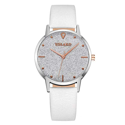 Thin Dial Wrist Watch with Leather Band