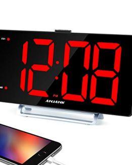 "9"" Digital Alarm Clock with Large LED Display"