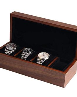 BingYes Wood Watch Box,with Ring Storage Bag