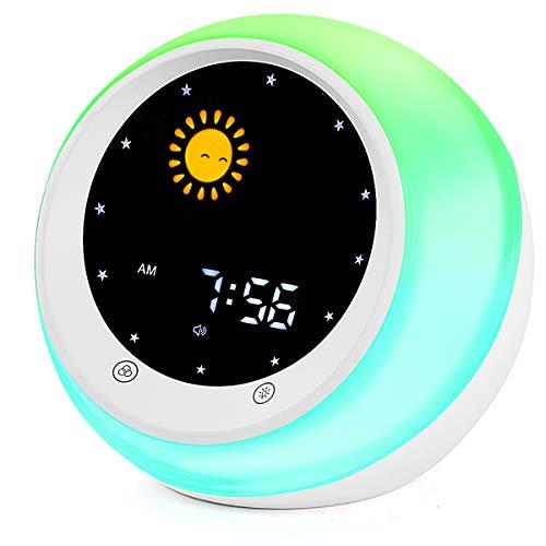 Sun & Moon Rise Kids Alarm Clock Wake Up Light & Night Light