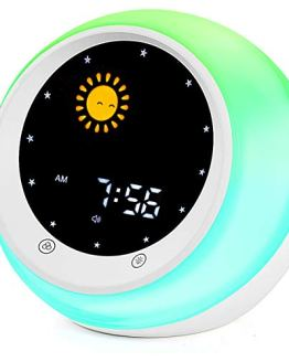 Sun & Moon Rise Kids Alarm Clock Wake Up Light & Night Light