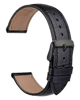 WOCCI Alligator Embossed Leather Watch Band 22mm