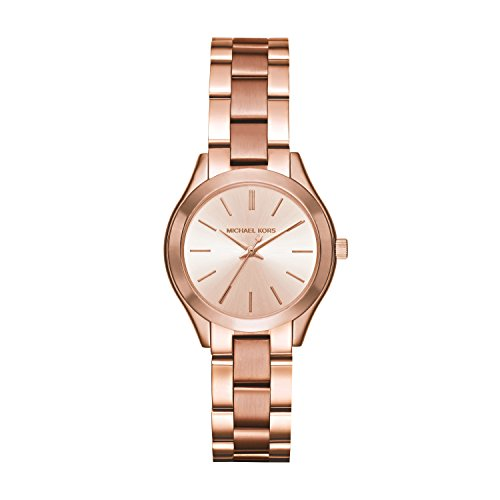 Michael Kors Women's Mini Slim Runway Rose Gold-Tone Watch