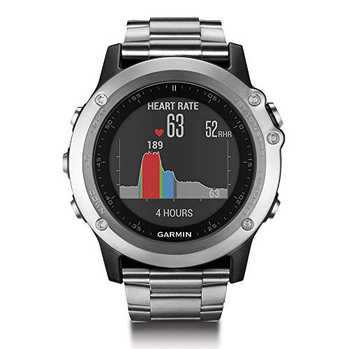 Garmin Fenix 3 HR Watch with Titanium and Sport Band