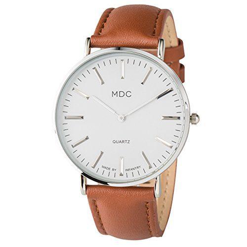 Minimalist Mens Analog Wrist Watch by MDC