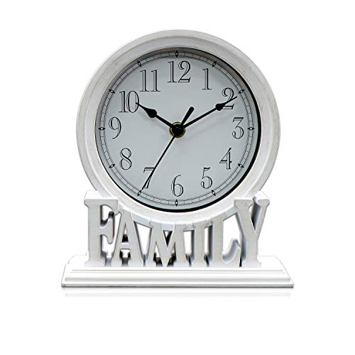 White Clumsy pets 6.5 Inches Mantel Clock