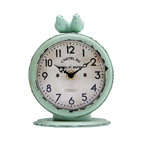 Round Quartz Table Clock with 2 Birds