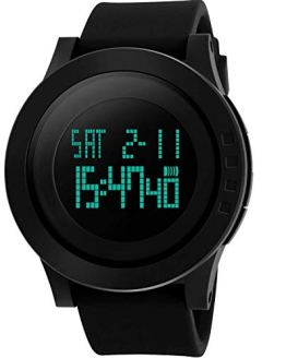 Men's Digital Sports Wrist Watch LED Screen Large Face