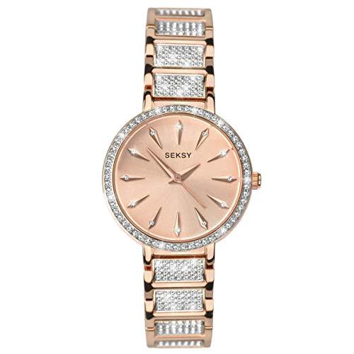 Rose Gold with Fine Swarovski Luxury Crystals Bracelet Watch