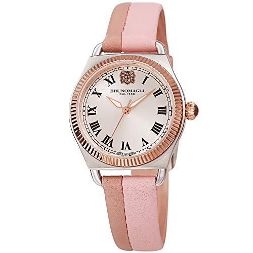 Pink Italian Leather Dial Strap Watch Bruno Magli