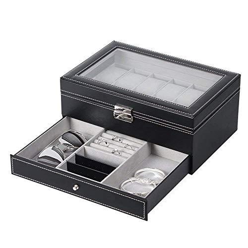 NEX Watch Case Organizer, Double-Layer Watch Box