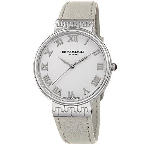 Bruno Magli White Italian Leather Strap Watch
