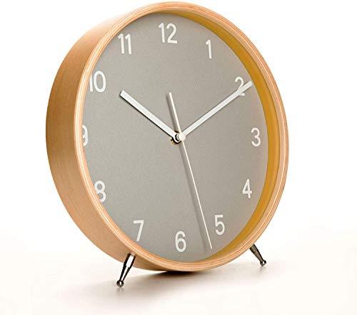 Retro Non-Ticking Table Desk Clock Battery