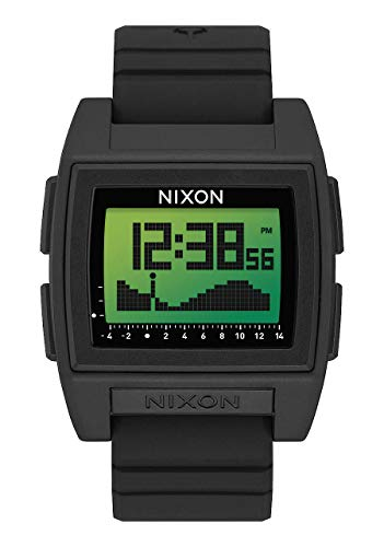 NIXON Base Tide Pro - Black/Green Positive - 100m Water Resistant