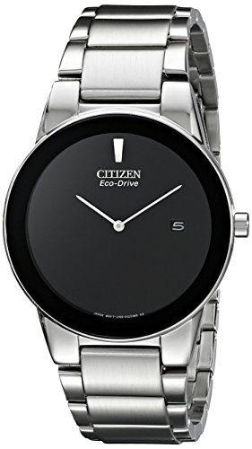 Eco-Drive Movement Black Dial Men's Watch Citizen Axiom