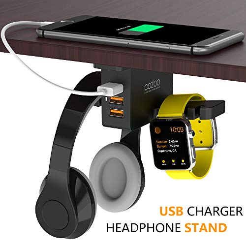iWatch Stand Smart Watch Charging Dock Headphone Stand with USB Charger