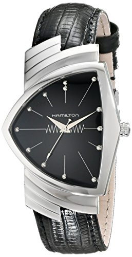 Hamilton Mens Watch with Black Leather Band