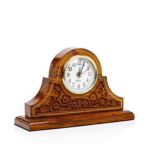 Office Decor Clock Rosewood Design Elegant Fireplace