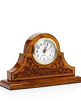 Office Decor Clock Rosewood Design Elegant Fireplace