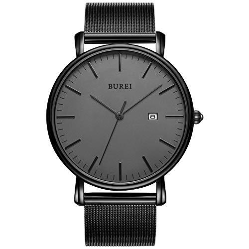BUREI Wrist Watch Analog Deep Gray