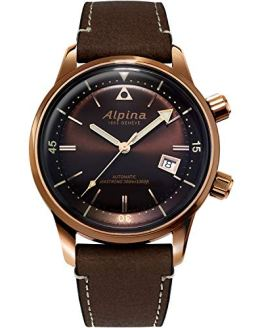 Alpina Swiss Automatic Sport Watch with Leather Strap
