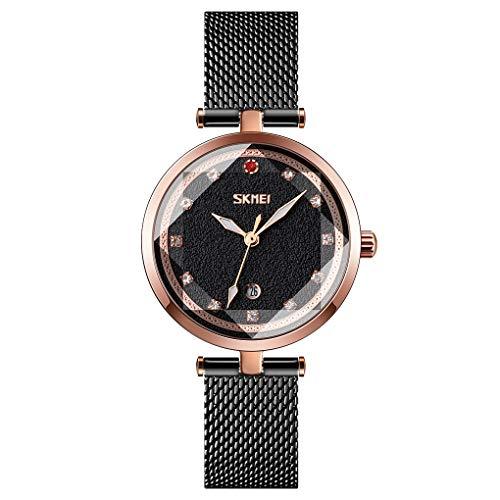 Analog Ladies Wrist Watch with Date Casual Luminous