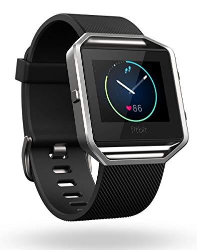 Fitbit Blaze Smart Fitness Watch, Black, Silver