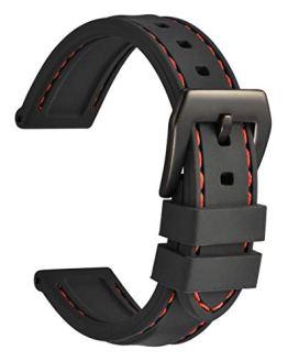 WOCCI 20mm Silicone Watch Band, Sporty Soft
