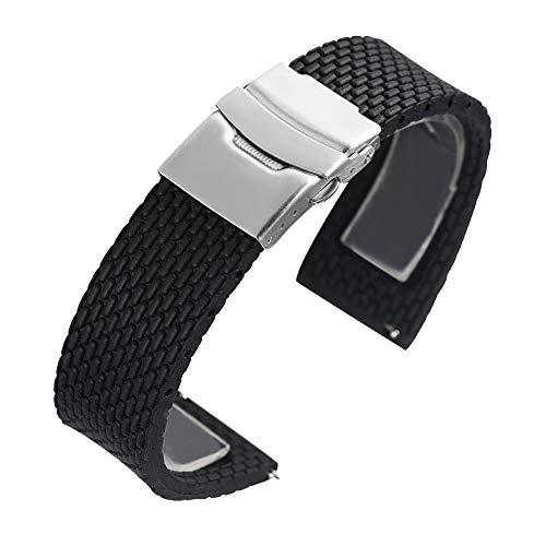 Silicone Watch Band Wristwatch Safety Folding Clasp