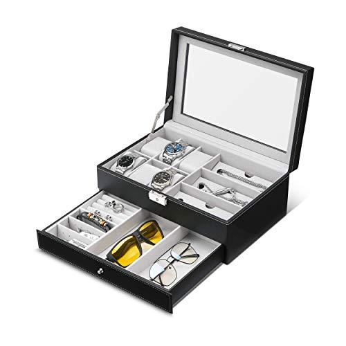 GUKA Watch Glasses Box Watch Case Jewelry Box