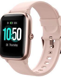 Pink Smart Watch Fitness Tracker Monitor
