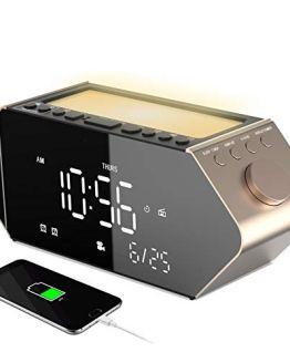 Sicsmiao Projection Alarm Clock, Digital Alarm Clock for Bedrooms