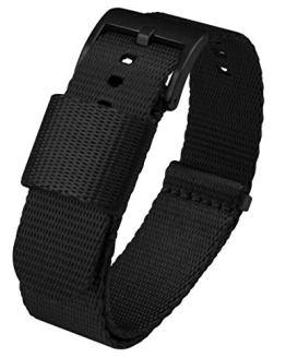 24mm Black - BARTON Jetson NATO Style Watch Strap