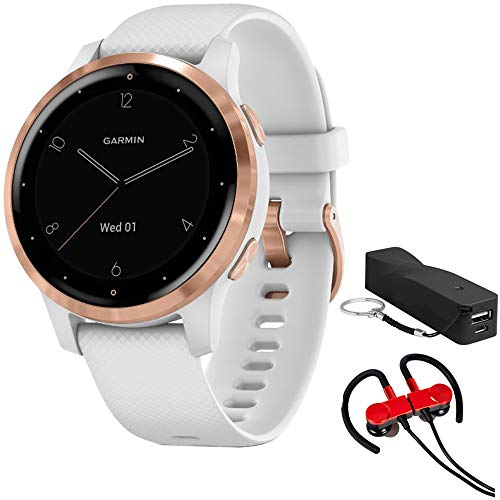 White/Rose Gold Garmin Vivoactive 4S Smartwatch