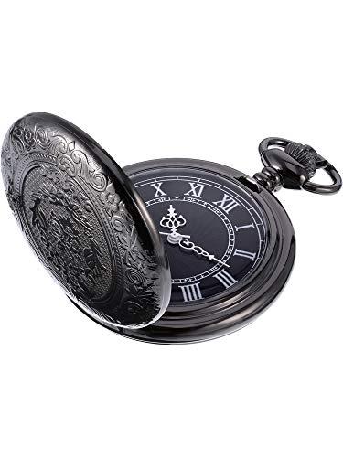Black Dial and Chain Hicarer Quartz Pocket Watch