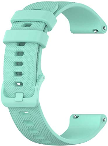 Mint Blue Wristology Quick Release Silicone Rubber Watch Band Strap