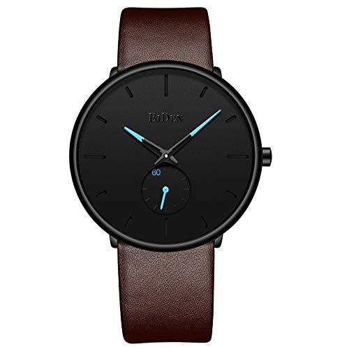Mens Ultra-Thin Quartz Analog Wrist Watch 30M Waterproof