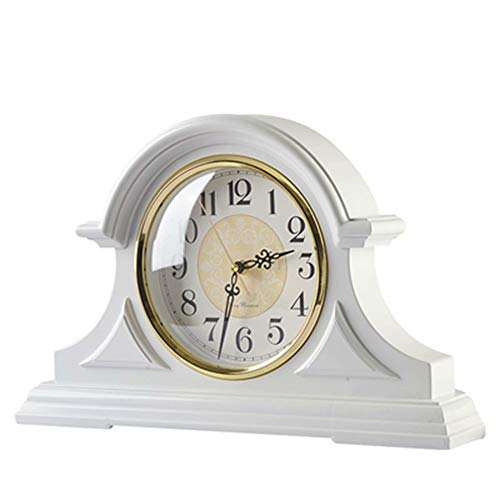 White Retro Mantle Vintage Table Clock