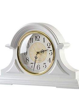 White Retro Mantle Vintage Table Clock
