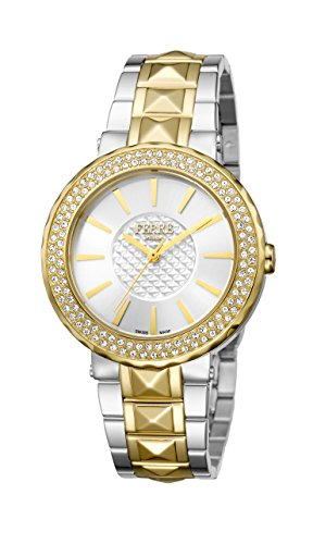 Ferre Milano Silver Dial With Two Toned Stainless-Steel Band Watch