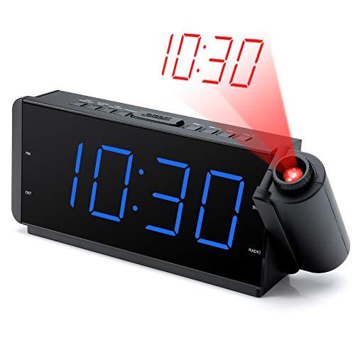 DreamSky Projection Alarm Clock Radio with USB Charging
