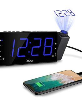 OnLyee Projection Alarm Clock with AM FM Radio