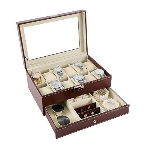 Slots Jewelry Display Case Organizer Watch Box