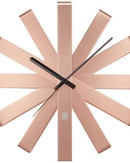Non Ticking Wall Clock Copper