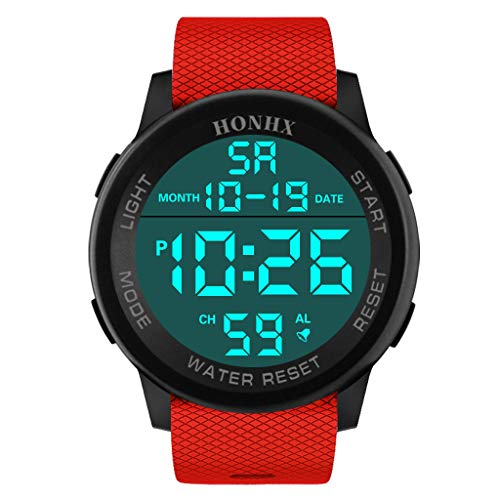 Mens Digital Sports Watches LED Screen Large Face Military Watches