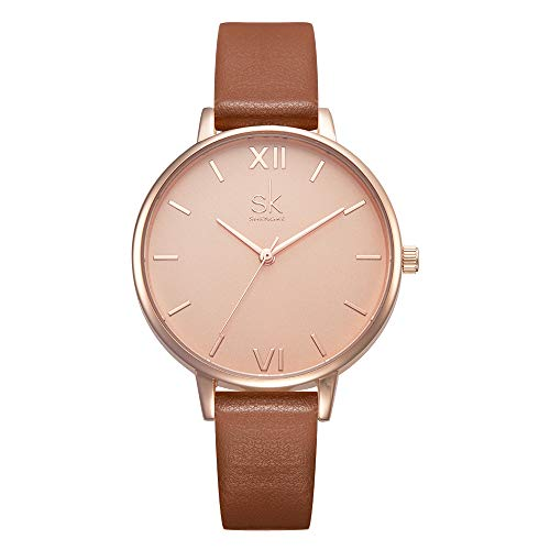 Wristwatch Leather Band Luxury SHENGKE