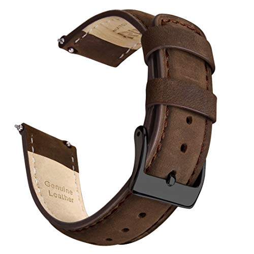 Saddle Brown Quick Release Leather Watch Strap