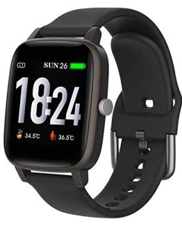 Body temperature Smartwatch Fitness Tracker with Heart Rate Blood Pressure