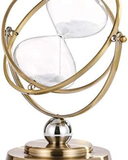 Large Antique Rotating White Sand Clock 60 Minute Hourglassr Sand Time