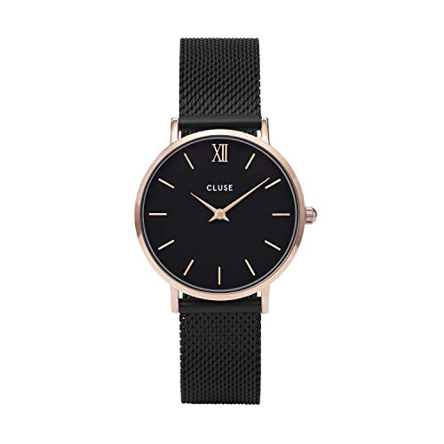 CLUSE Minuit Mesh Rose Gold Black Black Women's